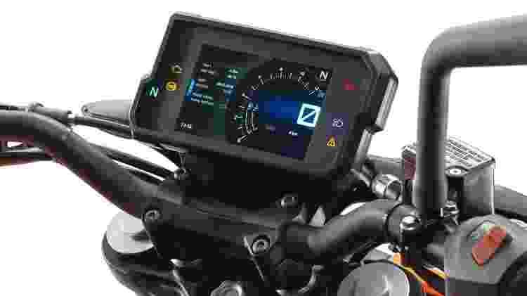 KTM 390 Duke 2017 painel - Divulgação - Divulgação