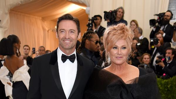 Hugh Jackman e a mulher Deborra-Lee Furness