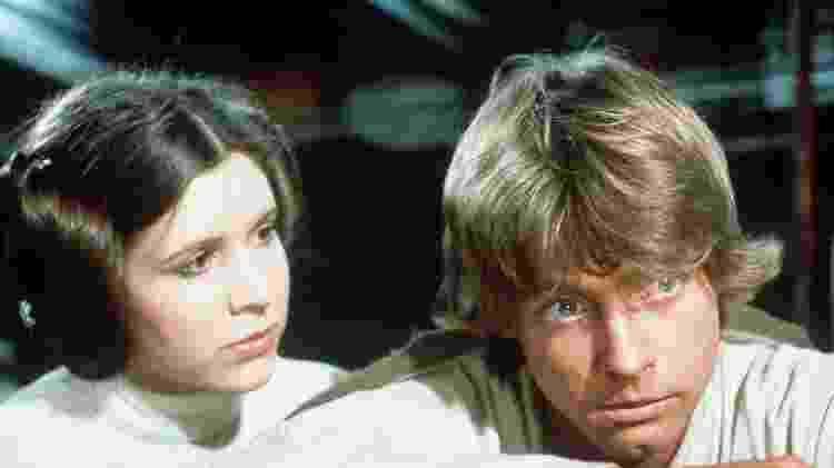 Princesa Leia (Carrie Fisher) e Luke Skywalker (Mark Hamill) - Divulgação/Lucasfilm