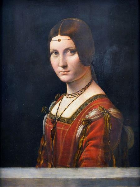 """O quadro """"La Belle Ferronière"""", pintado por Leonardo da Vinci - Reprodução"""