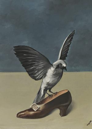 """Obra """"Deus Não é um Santo"""", de René Magritte, feita em 1935"""