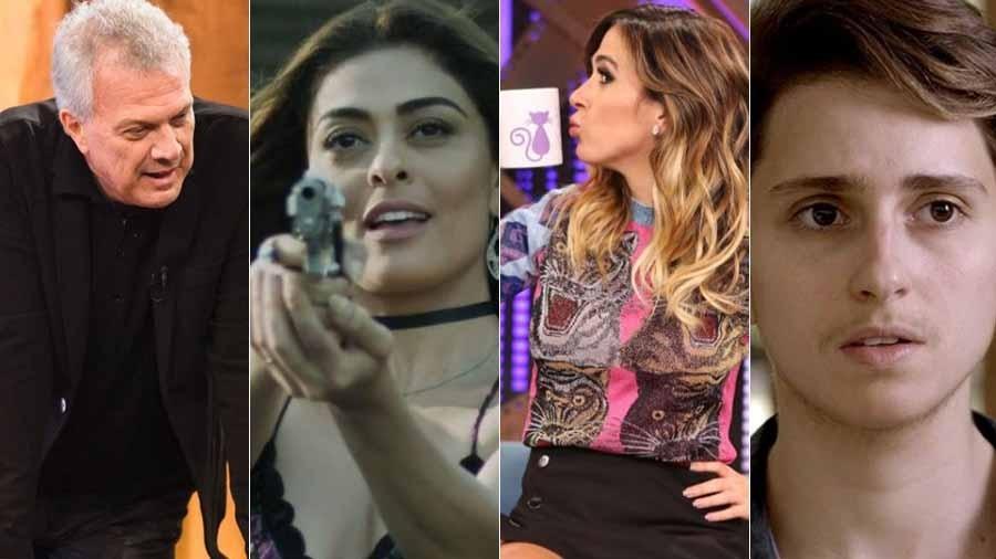 Pedro Bial, Juliana Paes, Tatá Werneck e Carol Duarte concorrem ao Troféu UOL TV e Famosos - Montagem UOL