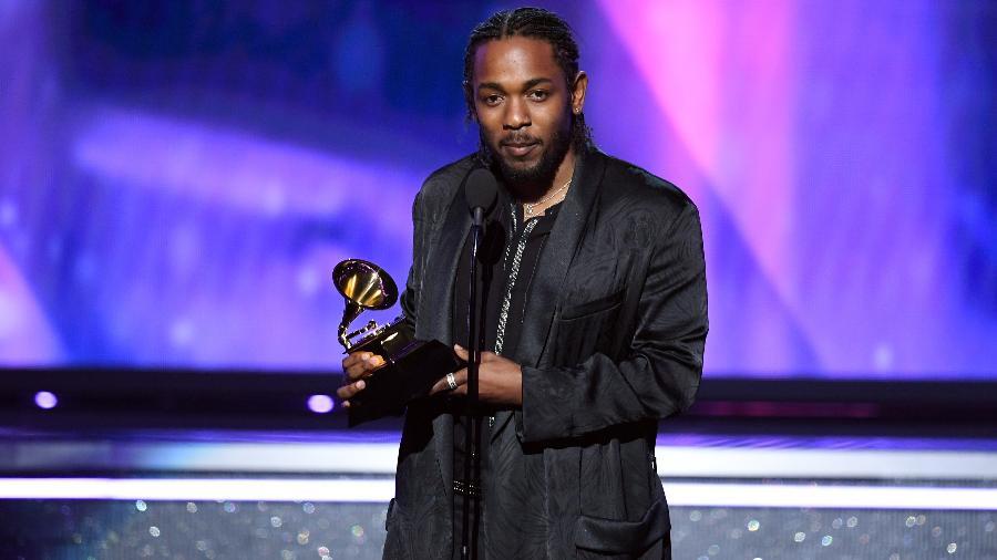 Kendrick Lamar agradece prêmio de melhor álbum de rap no Grammy 2018 - Getty Images