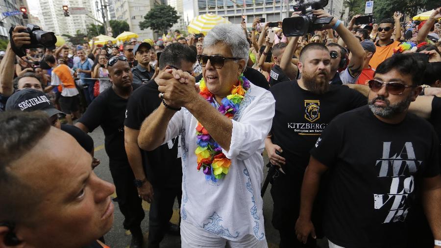 Sidney Magal arrasta multidão em sua estreia em um bloco próprio no Carnaval de São Paulo - Nelson Antoine/UOL