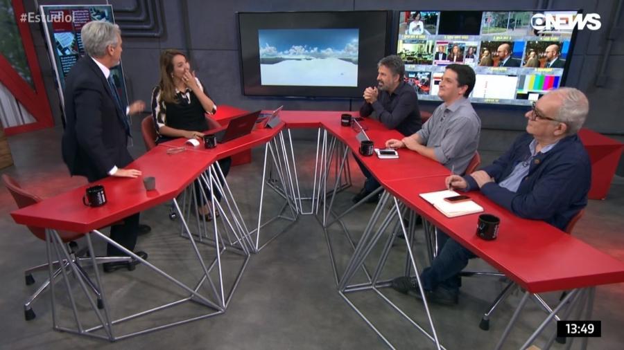 """Valdo Cruz pede para ir ao banheiro e surpreende telespectadores do """"Estúdio i"""", na Globo News - Reprodução/Globo News"""