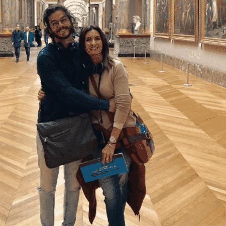 Túlio Gadêlha e Fátima Bernardes no Museu do Louvre, na França - Reprodução/Instagram
