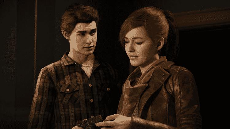 """Peter Parker e Mary Jane em cena do game """"Spider-Man"""", para o PlayStation 4 - Reprodução - Reprodução"""