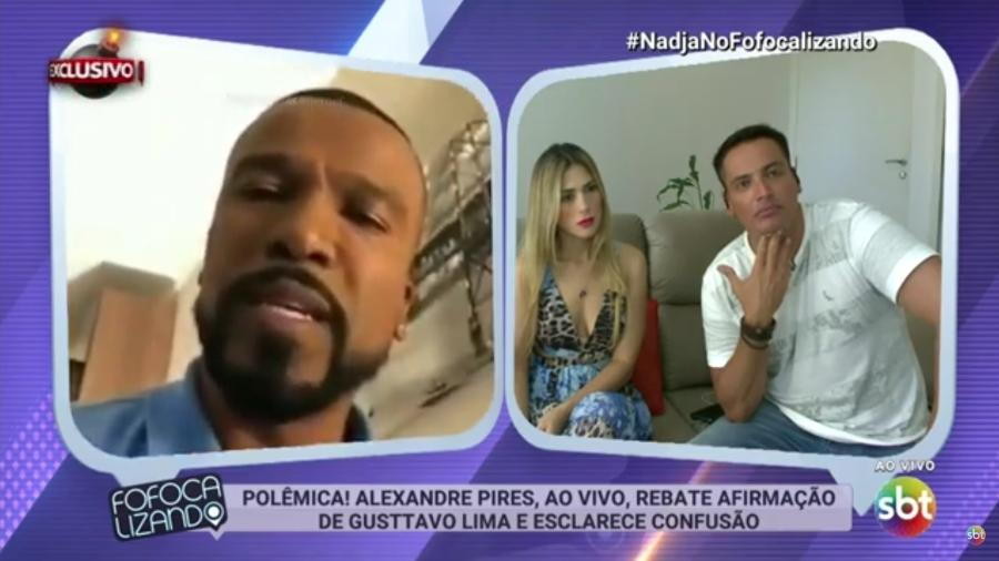 """Alexandre Pires rebate declaração de Gusttavo Lima e discute com Leo dias no """"Fofocalizando"""" - Reprodução/SBT"""