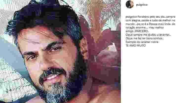 Nico Puig parabeniza o marido, Jeff Lattari - Reprodução/Instagram/puignico - Reprodução/Instagram/puignico