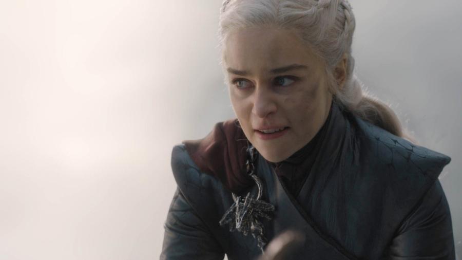 """Daenerys (Emilia Clarke) em cena do quinto episódio da oitava temporada de """"Game of Thrones"""" - Divulgação"""