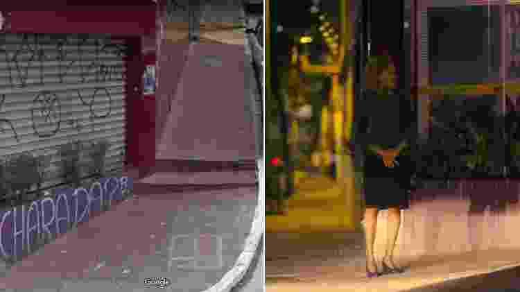 """Personagem do episódio """"Striking Vipers"""" em frente ao bar Jericoacoara em São Paulo - Google Street View/Divulgação"""