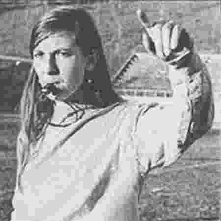 Lea Campos conseguiu o direito de apitar um jogo de futebol em 1971 - Arquivo