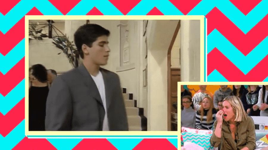 Giovanna Ewbank se surpreende ao ver imagens de Bruno Gagliasso em Chiquititas - Reprodução/SBT