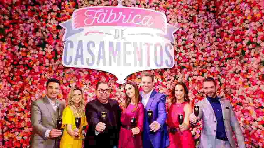 """Equipe do """"Fábrica de Casamentos"""", reality que teve confirmada a 4ª temporada no SBT em 2020 - Divulgação/SBT"""