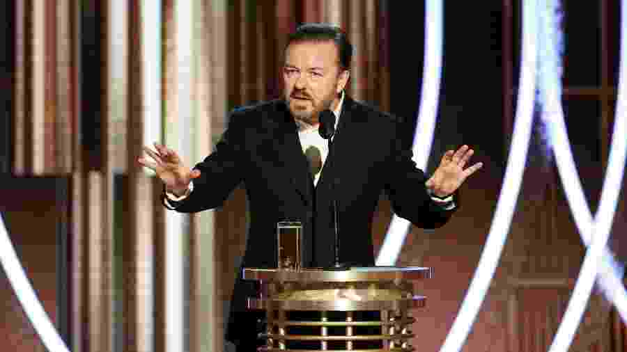 Ricky Gervais apresenta o 77º Globo de Ouro -  Paul Drinkwater/NBCUniversal Media, LLC via Getty Images