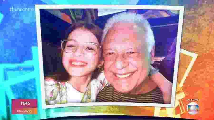 Fagundes lembrou foto ao lado de Valentina Vieira no dia da exibição do primeiro capítulo da novela - Reprodução/TV Globo