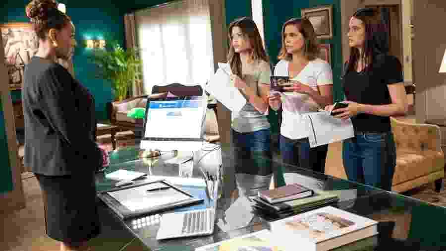 Alexia (Deborah Secco), Kyra (Vitória Strada) e Luna (Juliana Paiva) - Globo/João Miguel Júnior