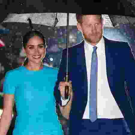 05.mar.2020 - Meghan e Harry chegando a evento em Londres - Chris Jackson / Getty Images