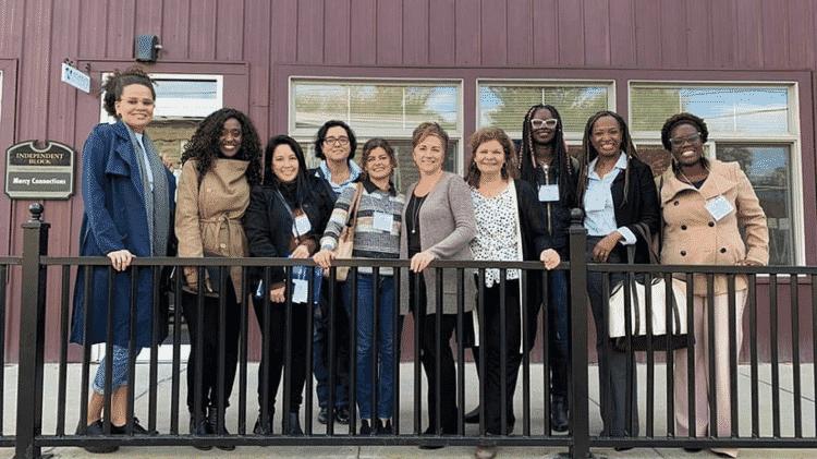 Foto de uma das visitas das iniciativas lideradas por mulheres empreendedoras durante intercâmbio profissional nos EUA em outubro de 2019 - Arquivo pessoal - Arquivo pessoal