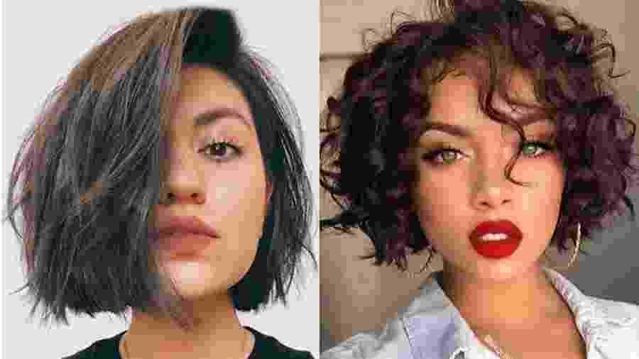O corte hacked bob funciona em todos os tipos de cabelo - Reprodução/Pinterest