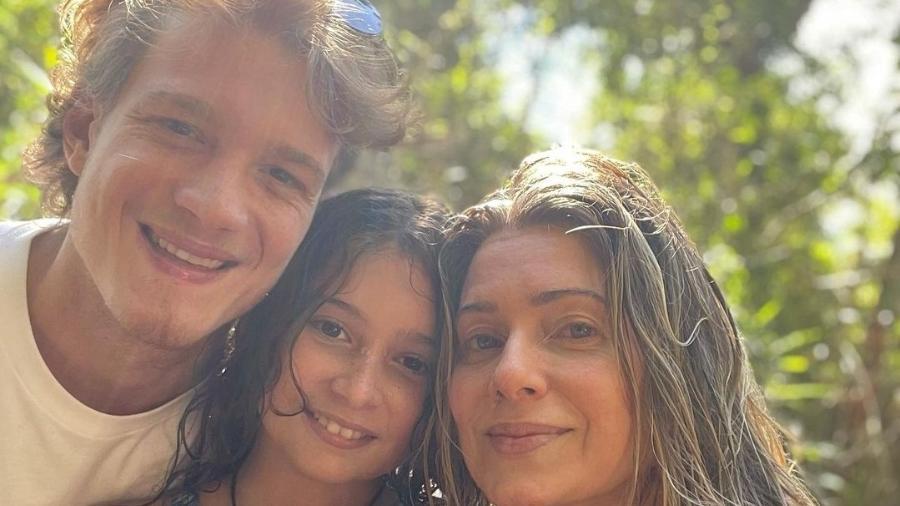 Pedro Novais, Stella e Letícia Spiller - Reprodução/Instagram @arealspiller