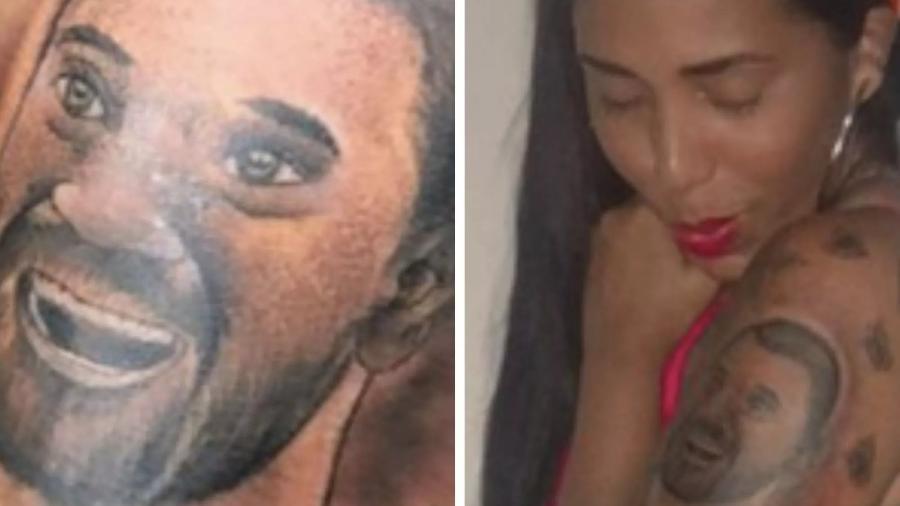 Janielly Nogueira, irmã de Gil do Vigor, fez uma tatuagem para ele - Reprodução / Twitter