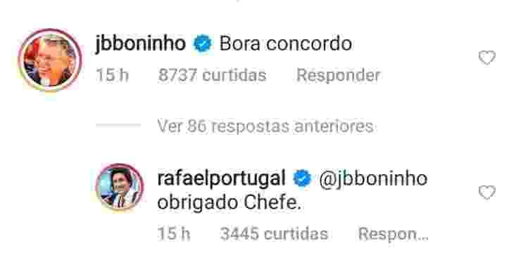 BBB 21: Boninho brinca com Rafael Portugal sobre colocar Gilberto de volta na casa - Reprodução/Instagram - Reprodução/Instagram
