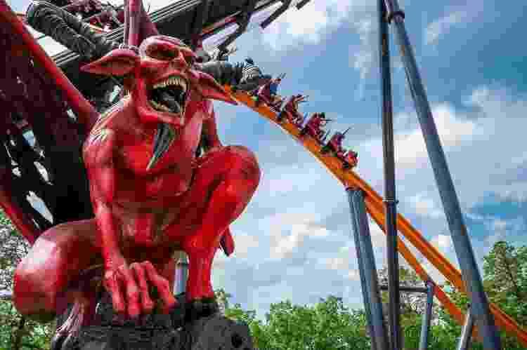 Jersey Devil Coaster - Reprodução/Six Flags Great Adventure - Reprodução/Six Flags Great Adventure