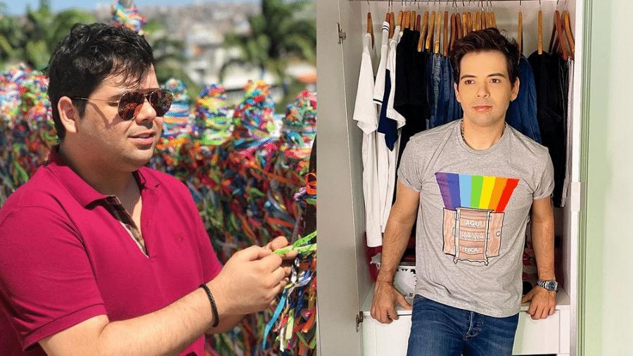 Gustavo Mendes antes e depois da cirurgia bariátrica - Reprodução/Instagram