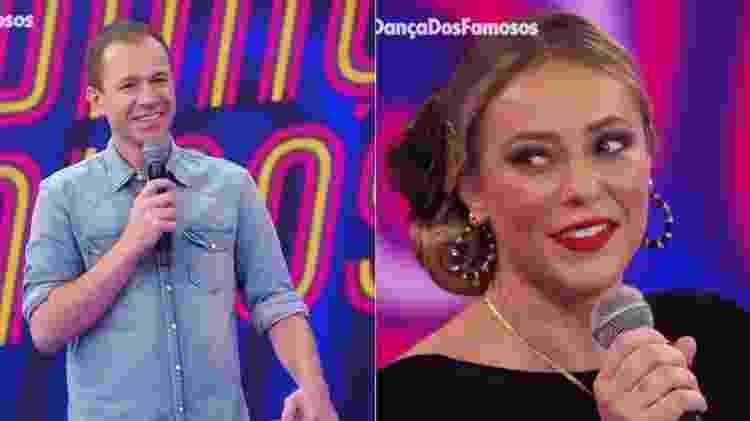 Super Dança dos Famosos: Tiago Leifert brinca com Paolla Oliveira - Reprodução/TV Globo - Reprodução/TV Globo