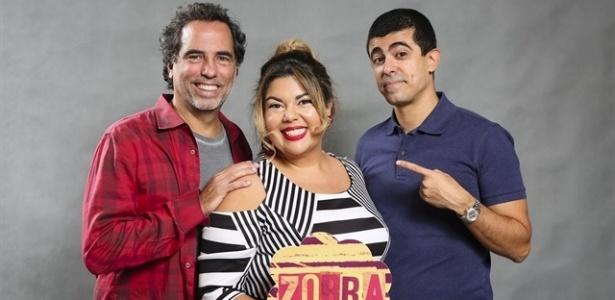 Maurício Farias, Fabiana Karla e Marcius Melhem - Tata Barreto/TV Globo