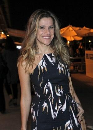 16.jun.2016 - A atriz Ingrid Guimarães no segundo dia de desfiles do Rio Moda Rio - Marcos Ferreira/Brazil News