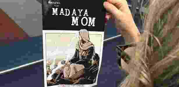 """Capa de """"Madaya Mom"""": HQ sobre uma heroina da vida real - AFP"""