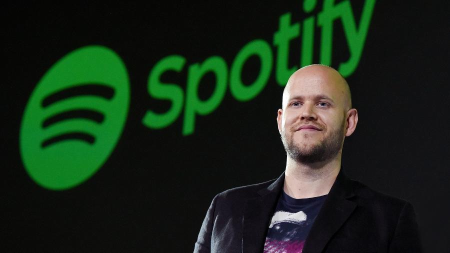 O sueco Daniel Ek, de 34 anos, cofundador da plataforma Spotify - Getty Images