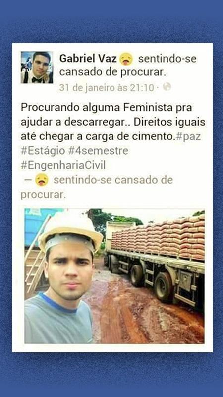 O estagiário Gabriel Vaz foi demitido após postagens sexistas no Facebook - Reprodução/Facebook