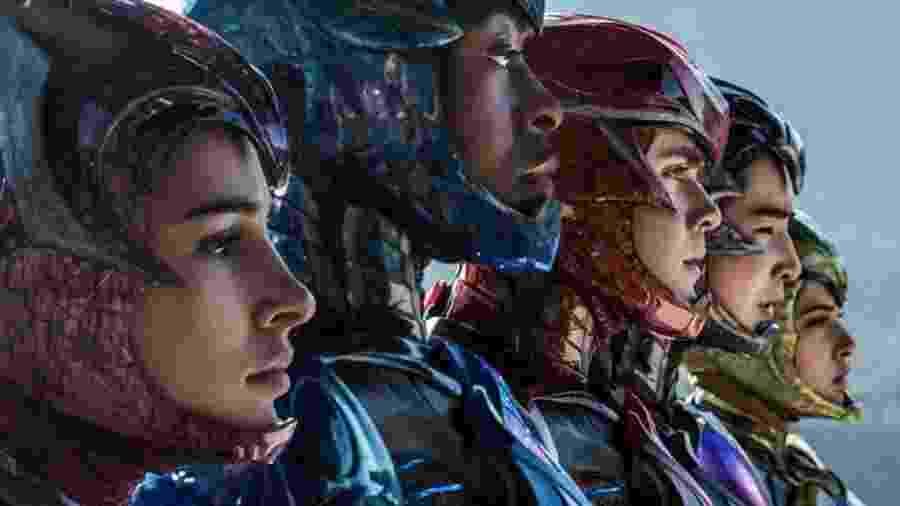 """Cena do filme """"Power Rangers"""" (2017), que reconta a história do time de super-heróis  - Divulgação"""
