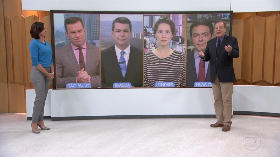 """Chico Pinheiro ironiza noticiário no """"Bom Dia Brasil"""": """"De tédio a gente não morre"""" - Reprodução/TV Globo"""