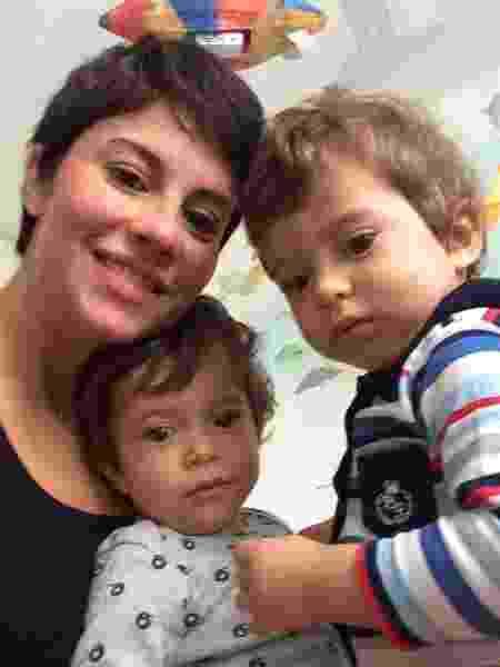 Mariana e os gêmeos Pedro e Gabriel - Arquivo pessoal - Arquivo pessoal