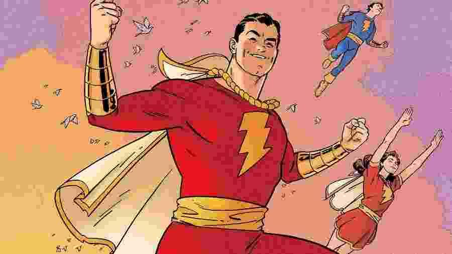 O herói Shazam, em HQ de 2015 - Reprodução/DC Comics