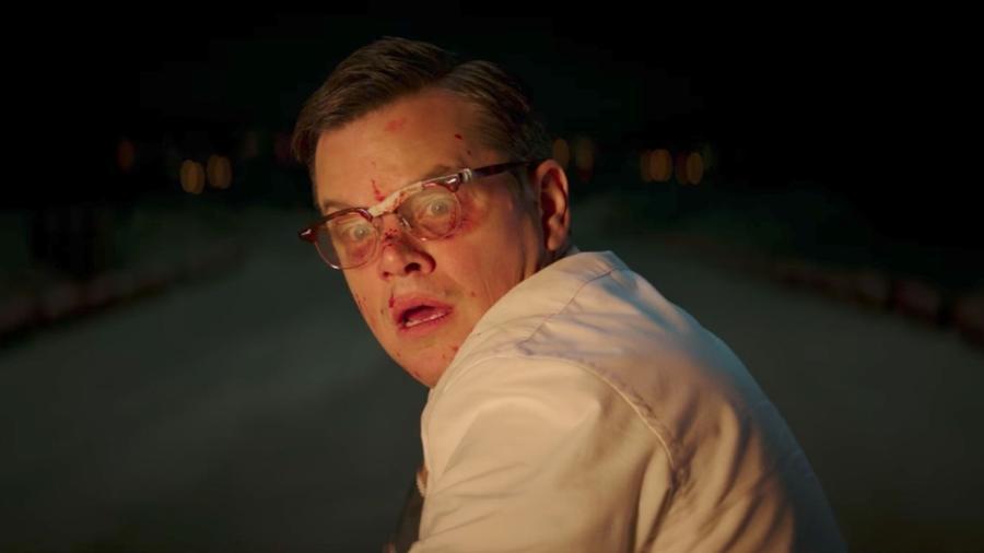 """Matt Damon em cena de """"Suburbicon"""" - Reprodução"""