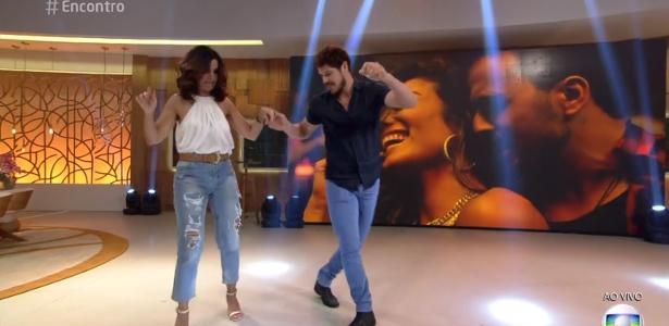"""José Loreto tirou Fátima para dançar durante o """"Encontro"""""""
