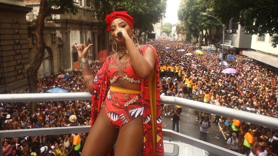 Ludmilla comanda o bloco Fervo da Lud, no centro do Rio de Janeiro - Raphael Mesquita/Brazil News