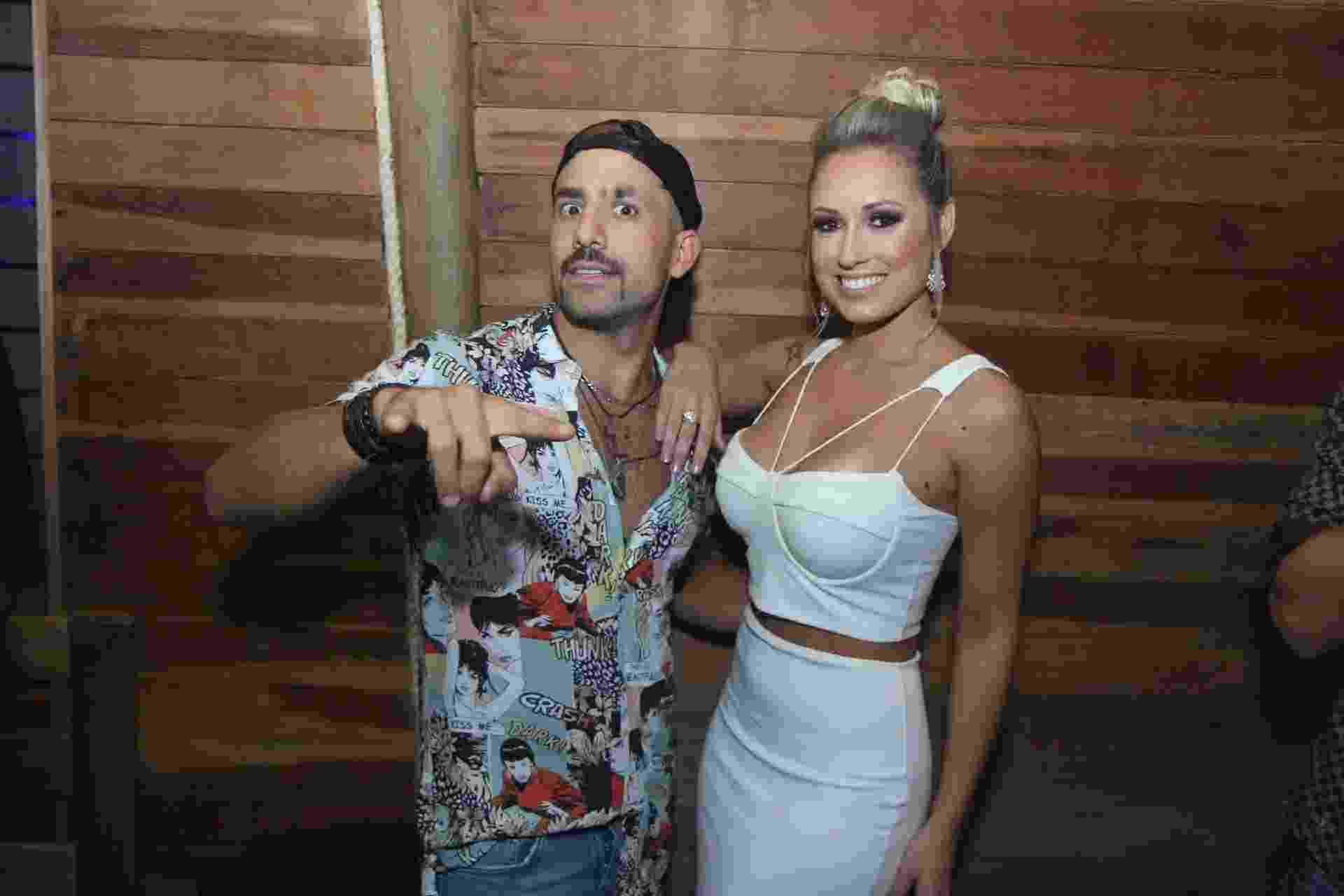 Kaysar e Jéssica vão juntos a inauguração da boate Boot´s Club, no Recreio, zona oeste do Rio, que tem o pai de Neymar como um dos sócios - Daniel Pinheiro/Ag.News
