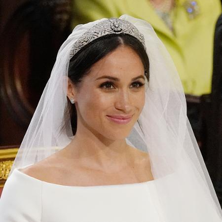 Meghan Markle no casamento usa tiara da rainha Mary - Jonathan Brady/Reuters