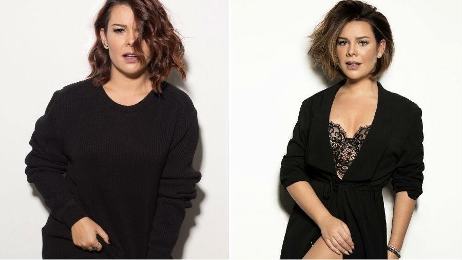Antes e depois do novo visual de Fernanda Souza - Reprodução/Instagram