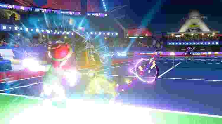 Raquetes de Mario Tennis Aces quebram caso jogador não tenha cuidado - Divulgação - Divulgação