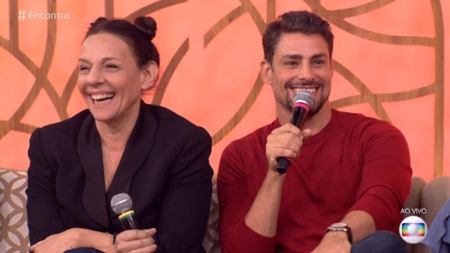 """Rosi Campos e Cauã Reymond no """"Encontro"""" - Reprodução/Globo"""