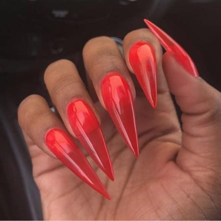 As jelly nails são feitas de acrílico  - Reprodução Instagram