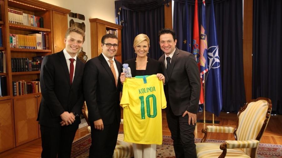 Marcelo Baseggio, Victor Pontes, Kolinda e Fernando Gavini no momento da gravação - Divulgação/TV Gazeta