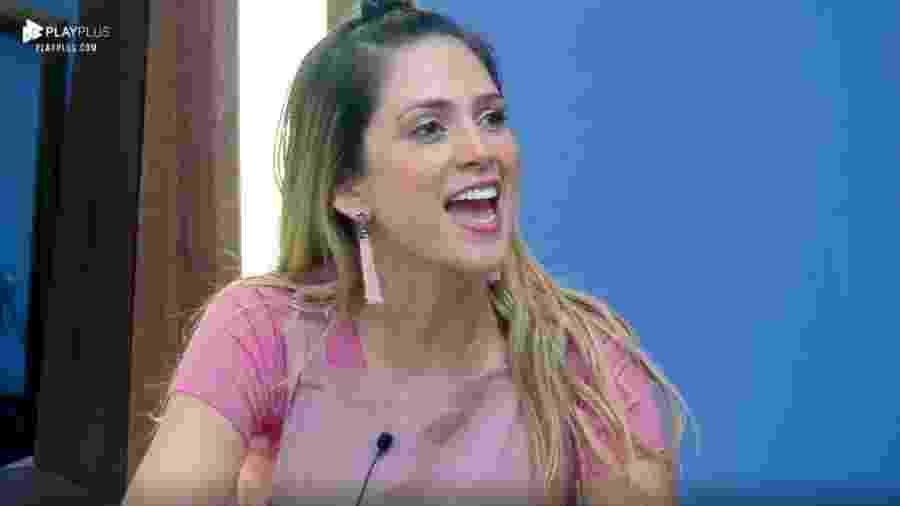 Nadja Pessoa critica a ex-paquita Catia Paganote - Reprodução/PlayPlus